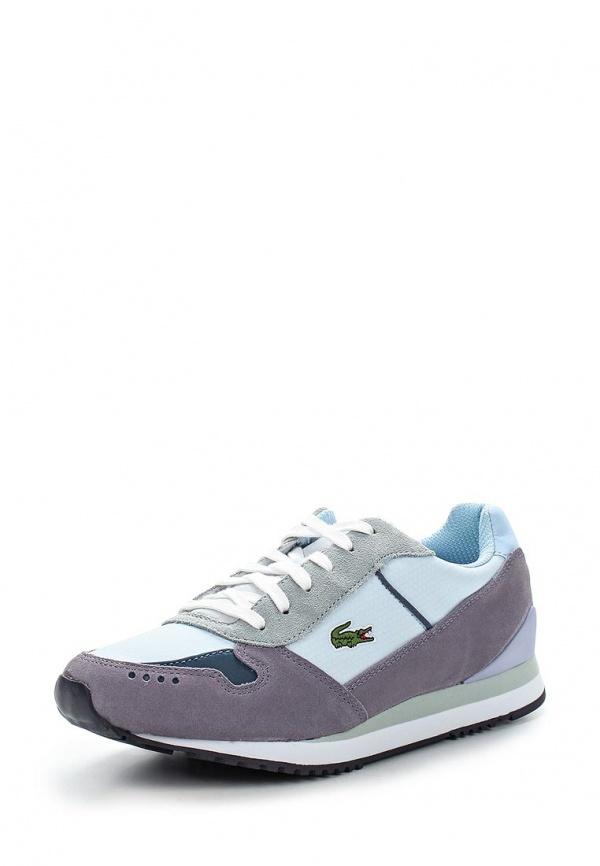 Кроссовки Lacoste LEW1212435 голубые, серые, фиолетовые