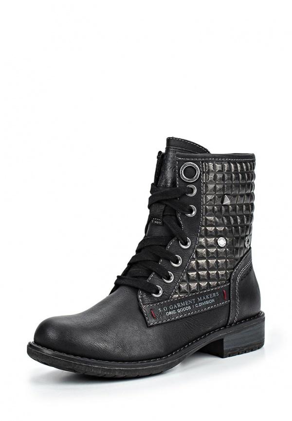 Ботинки s.Oliver 5-5-25103-23 чёрные