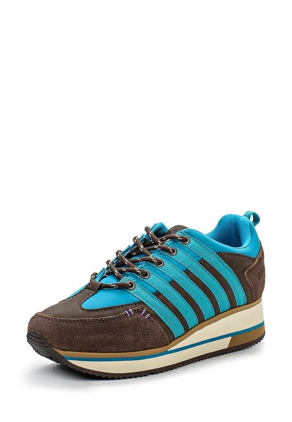 Кроссовки Crosby 257031/01-01-W голубые, коричневые