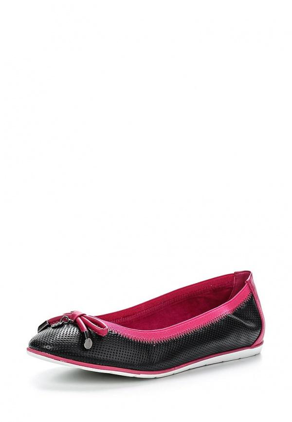 Балетки Betsy 957132/02-05 розовые, чёрные