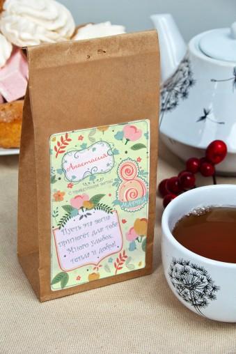 """Оригинальные и Необычные подарки Сувенир """"Чай черный"""" """"С праздником весны!"""""""