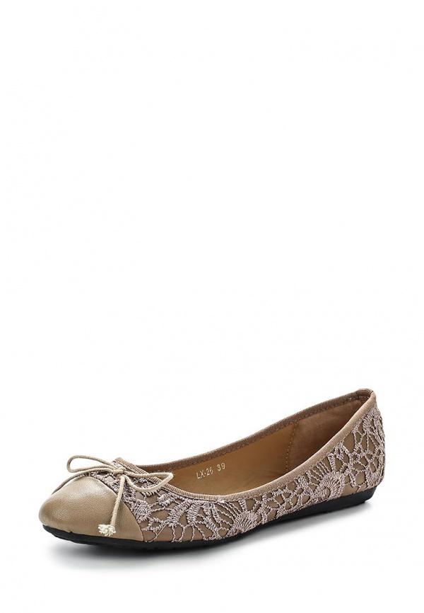 Балетки Max Shoes LX-26 бежевые, коричневые