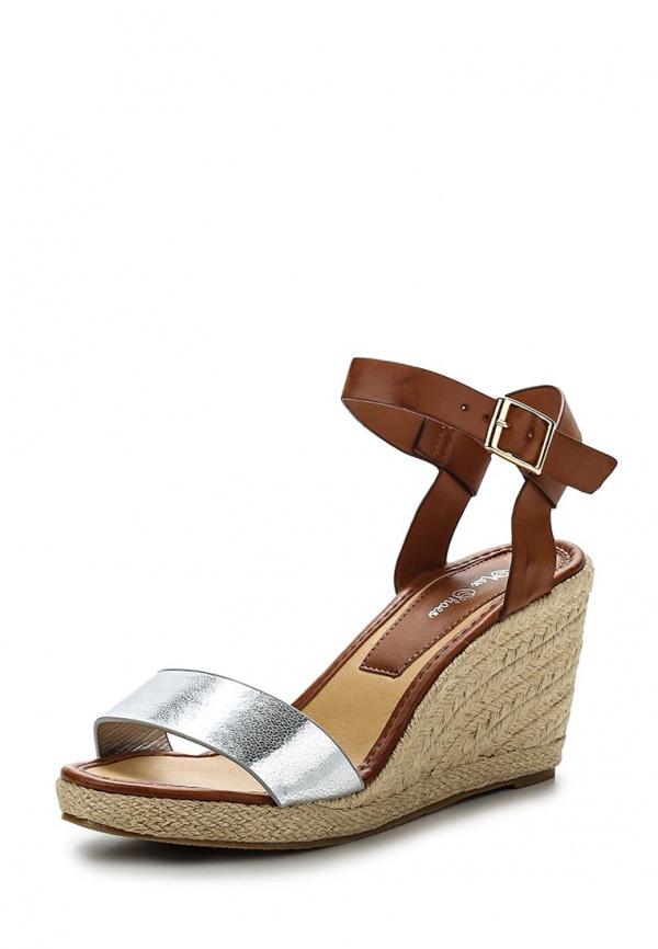 Босоножки Max Shoes EL-411 коричневые, серебристые