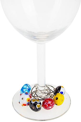 """Украшения и подвески для бокалов Красный куб Набор подвесок для бокала """"Милые букашки"""""""