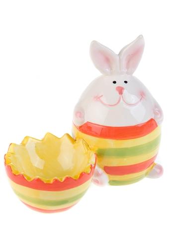 """Подставки для яиц Красный куб Подставка для яйца """"Полосатый зайка"""""""