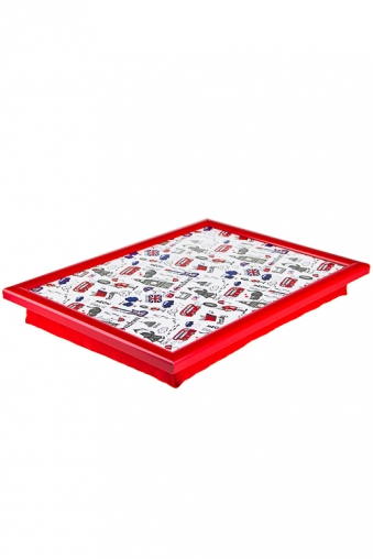 """Подносы Красный куб Поднос для еды в постели """"Лондон"""""""