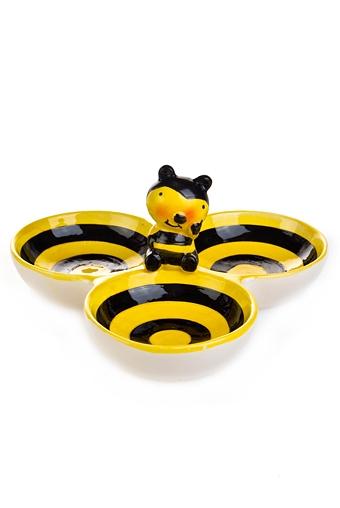 "Тарелки и пиалы Красный куб Менажница ""Пчелка"""