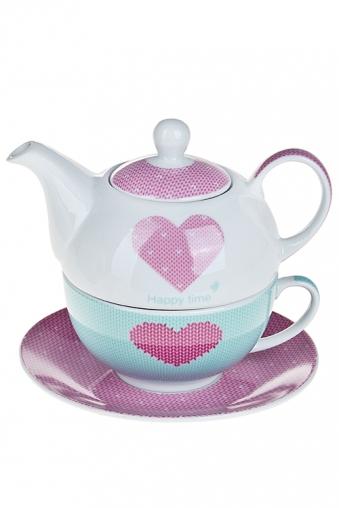 """Чайные наборы Красный куб Набор чайный """"Сердце"""""""