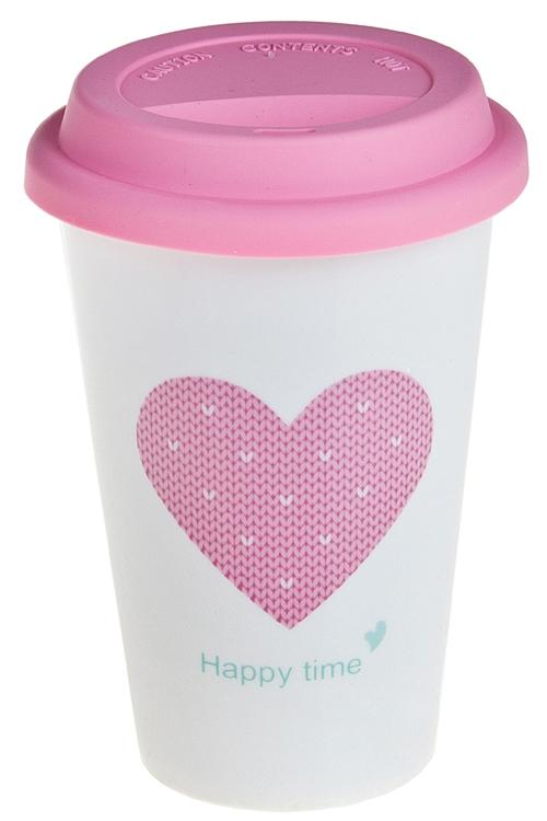 """Термокружки и стаканы для чая/кофе Красный куб Стакан для кофе/чая """"Сердце"""""""