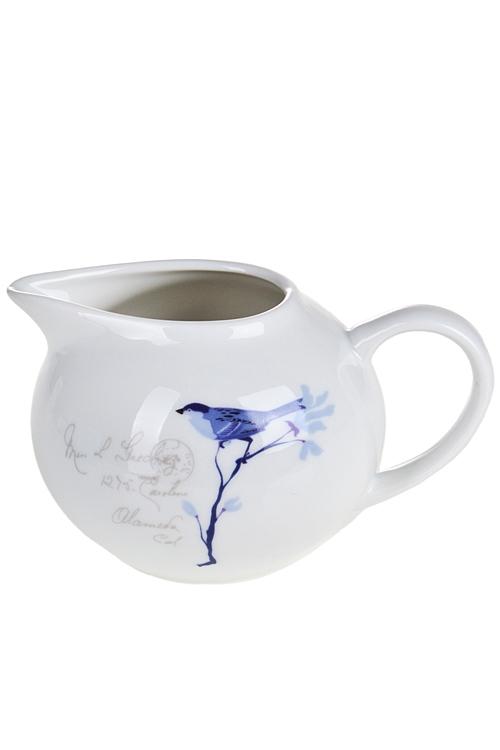 """Кухонные аксессуары Красный куб Молочник """"Синие цветы"""""""