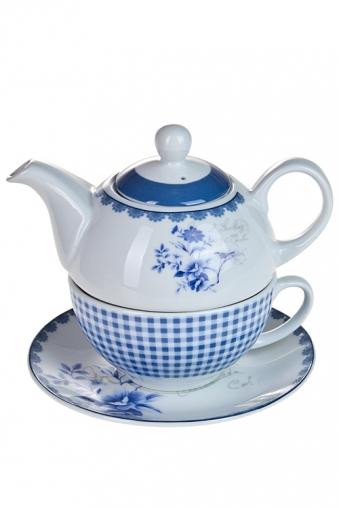 """Чайные наборы Красный куб Набор чайный """"Синие цветы"""""""
