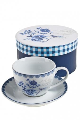 """Чайные пары Красный куб Чайная пара """"Синие цветы"""""""