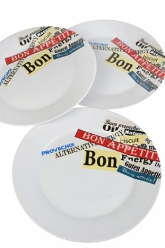 "Тарелки и пиалы Красный куб Набор тарелок ""Буквы"""