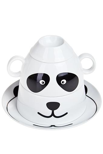 """Столовые наборы Красный куб Набор для завтрака """"Панда"""""""