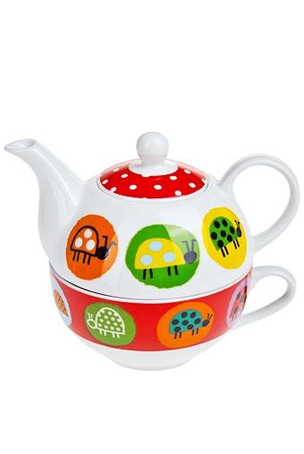 """Чайные наборы Красный куб Набор чайный """"Божьи коровки"""""""
