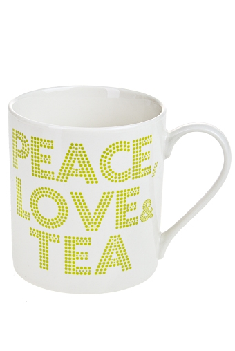 """Кружки и бокалы Красный куб Кружка """"Мир, любовь, чай"""""""