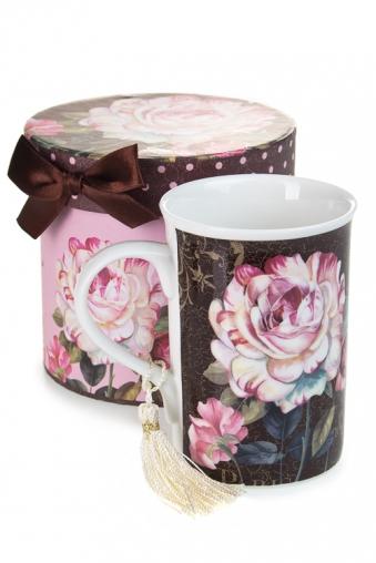 """Кружки и бокалы Красный куб Кружка """"Розы в шоколаде"""""""
