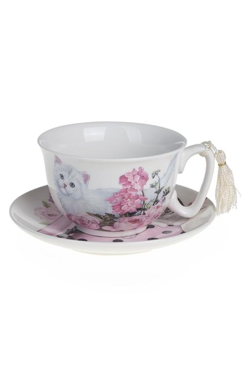 """Чайные пары Красный куб Чайная пара """"Очаровательные котята"""""""