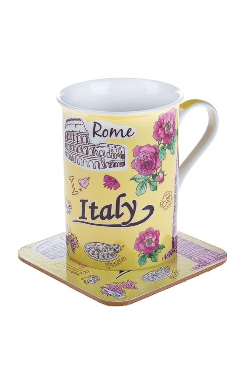 """Чайные пары Красный куб Набор чайный """"Италия"""""""