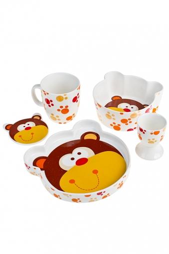 """Столовые наборы Красный куб Набор для завтрака """"Мишутка"""""""