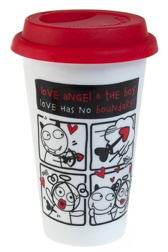 """Термокружки и стаканы для чая/кофе Красный куб Стакан для чая/кофе """"Любовь без границ"""""""