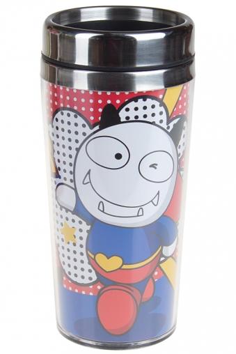 """Термокружки и стаканы для чая/кофе Красный куб Термокружка с крышкой """"Дьявольский герой"""""""