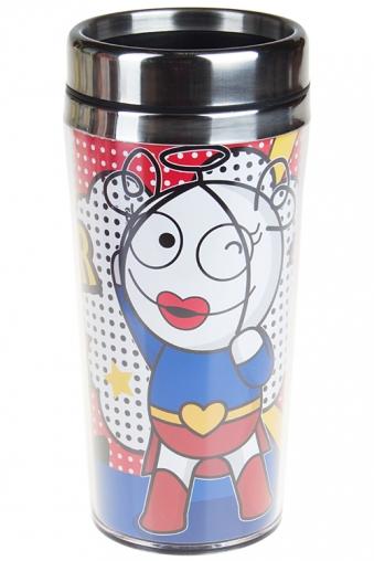 """Термокружки и стаканы для чая/кофе Красный куб Термокружка с крышкой """"Ангельская героиня"""""""