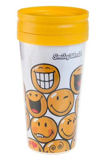 """Термокружки и стаканы для чая/кофе Красный куб Термокружка с крышкой """"Смайлы"""""""