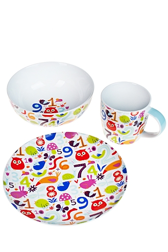 """Столовые наборы Красный куб Набор для завтрака """"Веселые цифры"""""""