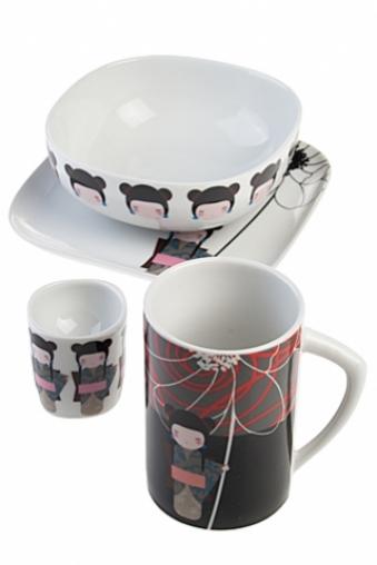 """Столовые наборы Красный куб Набор для завтрака """"Кимоно"""""""