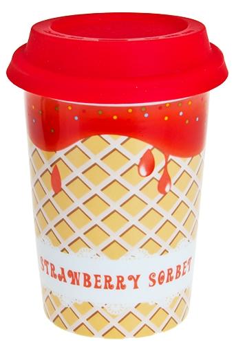 """Термокружки и стаканы для чая/кофе Красный куб Стакан для чая/кофе """"Клубничное мороженое"""""""