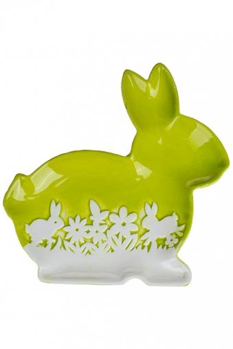 """Тарелки и пиалы Красный куб Блюдо """"Весенний луг-кролик"""""""