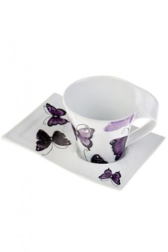 "Чайные пары Красный куб Чайная пара ""Бабочка"""