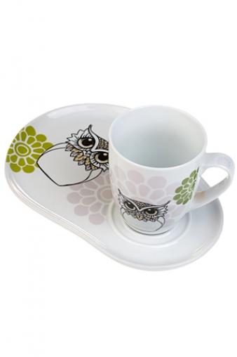 """Чайные пары Красный куб Чайная пара """"Сова"""""""