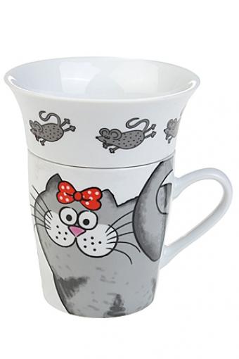 """Чайные пары Красный куб Набор чайный """"Кошки-мышки"""""""