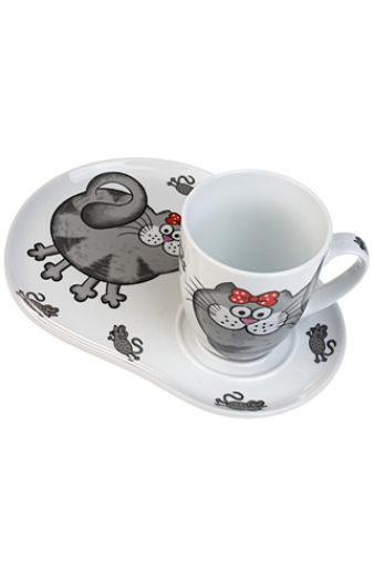 """Чайные пары Красный куб Чайная пара """"Кошки-мышки"""""""