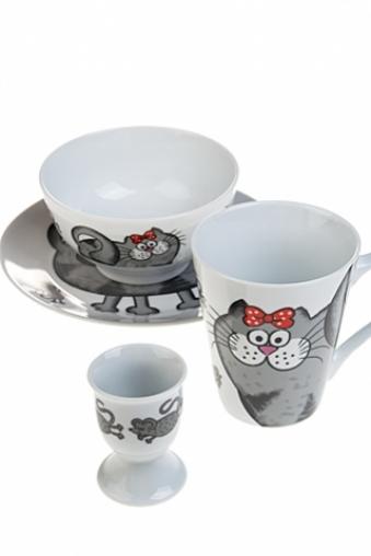 """Столовые наборы Красный куб Набор для завтрака """"Кошки-мышки"""""""