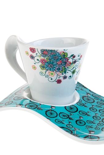 """Чайные пары Красный куб Чайная пара """"Велосипед"""""""