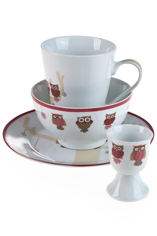 """Столовые наборы Красный куб Набор для завтрака """"Совята"""""""