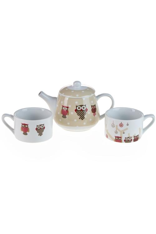 """Чайные наборы Красный куб Набор чайный """"Совята"""""""