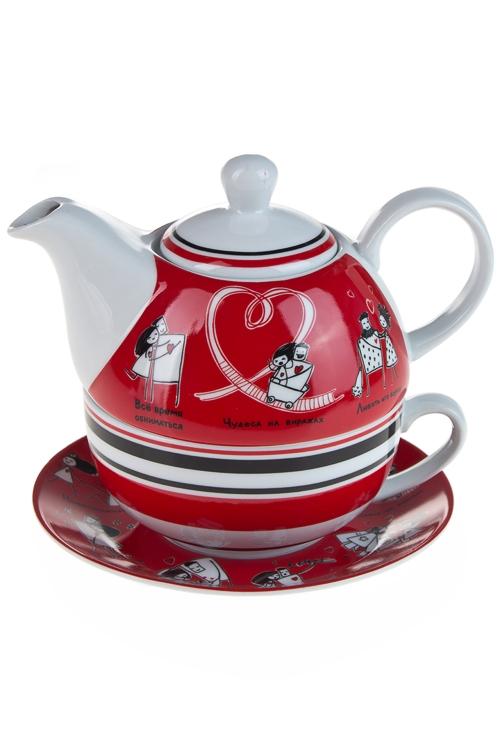 """Чайные наборы Красный куб Набор чайный """"Это любовь!"""""""