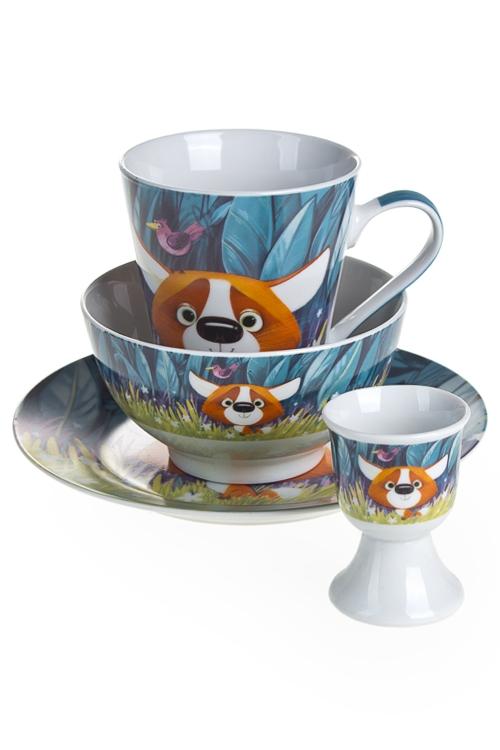 """Чайные наборы Красный куб Набор для завтрака """"Фоксик"""""""