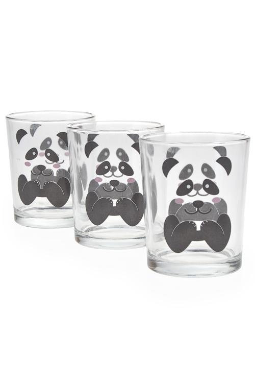 """Столовые наборы Красный куб Набор стаканов """"Панда"""""""