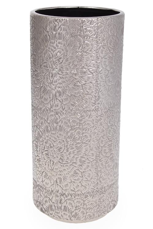 """Керамические вазы и кашпо Красный куб Ваза для цветов """"Цветы на серебре"""""""