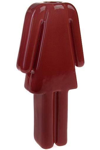 """Керамические вазы и кашпо Красный куб Ваза для цветов """"Женщина"""""""