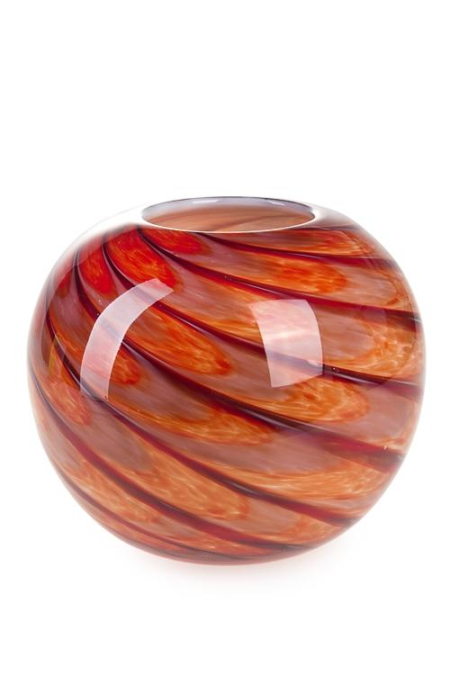 """Стеклянные вазы и кашпо Красный куб Ваза для цветов """"Марокко"""""""