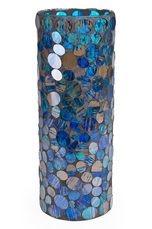 """Стеклянные вазы и кашпо Красный куб Ваза для цветов """"Капли дождя"""""""