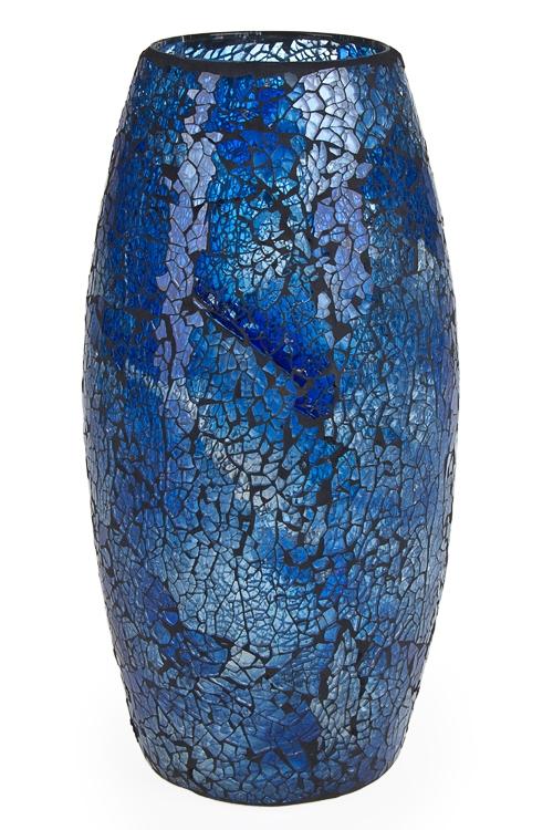 """Стеклянные вазы и кашпо Красный куб Ваза для цветов """"Синее море"""""""
