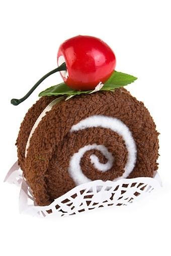 """Наборы для ванной Красный куб Полотенце подарочное """"Вкусный десерт"""""""