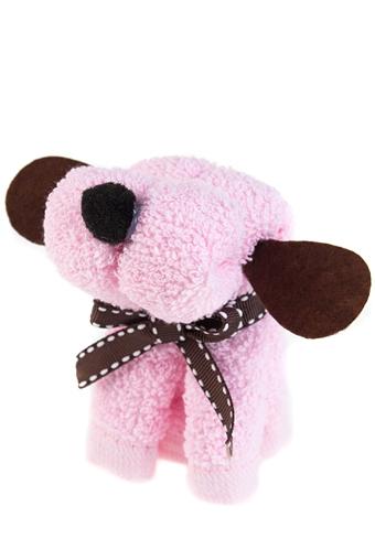 """Наборы для ванной Красный куб Полотенце подарочное """"Розовый щенок"""""""